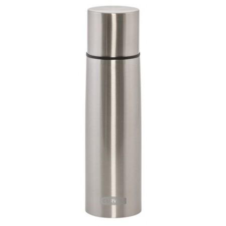 Nerezová termoska 0,5 l, s hrníčkem, stříbrná