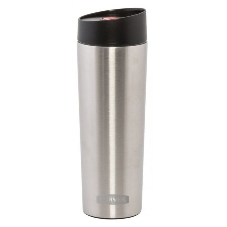 Termohrnek (termoska) 0,36 l, plast / nerez, černá / stříbrná