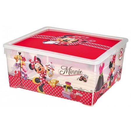 Velký ozdobný úložný box do dívčího pokoje 18,5 l, potisk Minnie