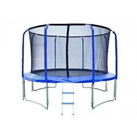 Velká zahradní trampolína s ochrannou sítí 427 cm, nosnost 150 kg