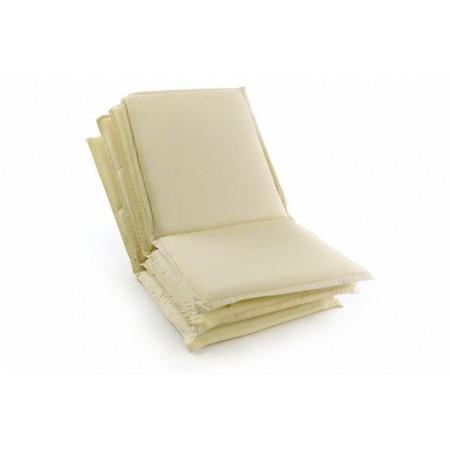 4 ks polstr na zahradní židle, nízké opěradlo, sundavací potah, krémová