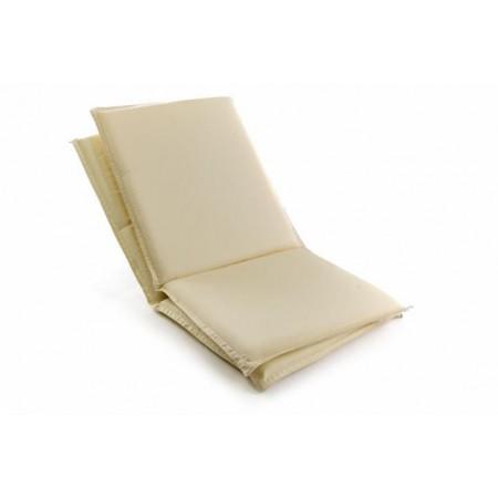 2 ks polstr na zahradní židle, nízké opěradlo, sundavací potah, krémová