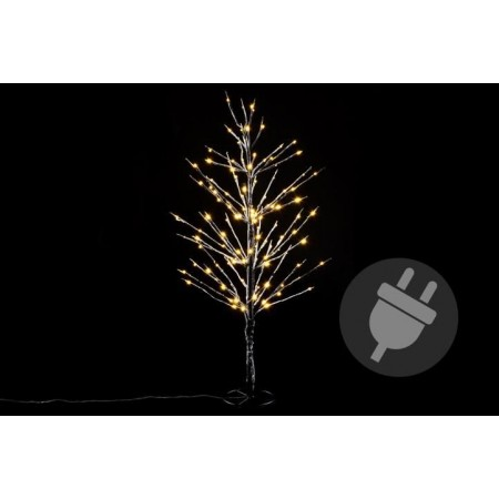 Umělý svítící strom zasněženého vzhledu, venkovní / vnitřní, 90 cm