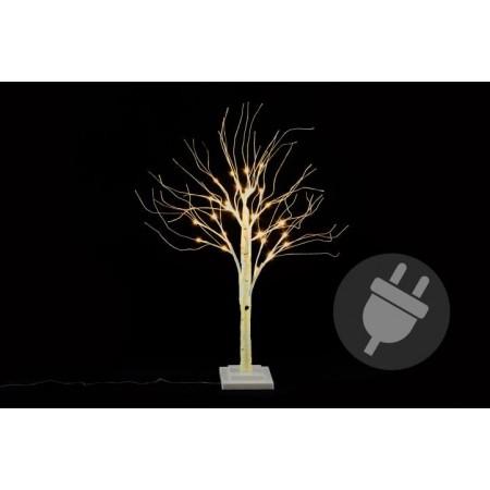 Umělý svítící strom- bříza, venkovní / vnitřní, 70 cm