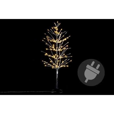Umělý svítící strom zasněženého vzhledu, venkovní / vnitřní, 120 cm