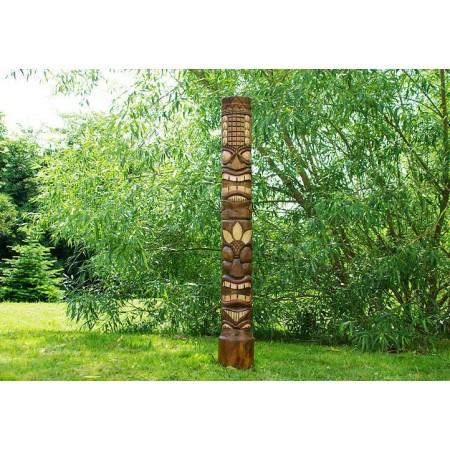 Dřevěný totem ručně vyřezávaný 2, 150 cm