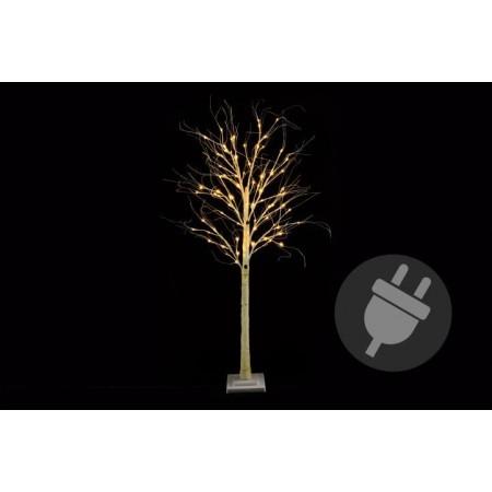 Umělý svítící strom- bříza, venkovní / vnitřní, 160 cm