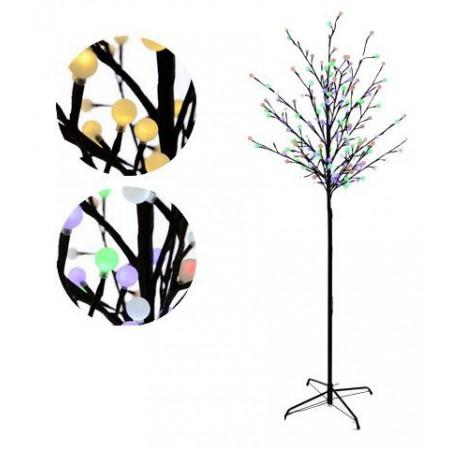 Velký umělý svítící strom 180 cm, bílé / barevné světlo