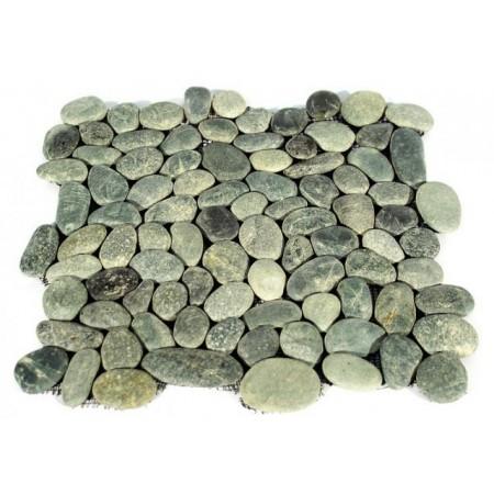 Obklad / dlažba - mozaika říční oblázky, šedá, 1 m2