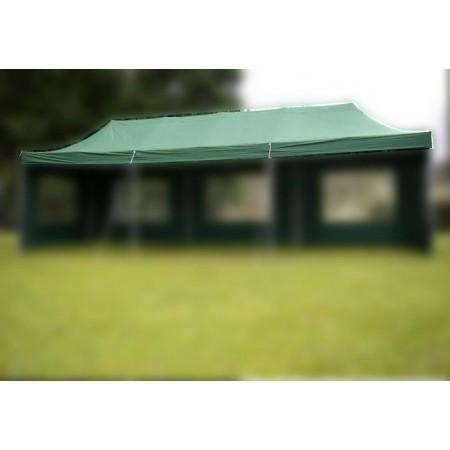 Samostatná střecha s zahradním párty stanům 3x9 m, zelená