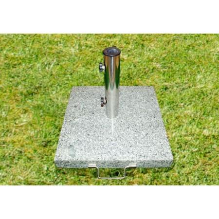 Žulový podstavec k zahradnímu slunečníku, s kolečky, 40 kg