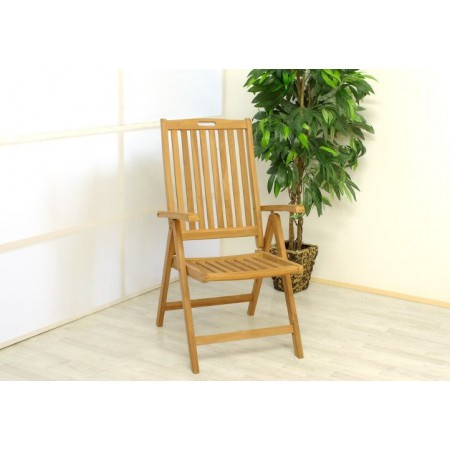 Skládací zahradní masivní židle, týkové dřevo