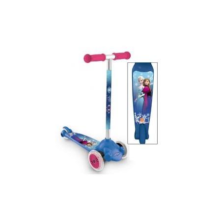 Dětská stabilní koloběžka od 5 let, 3 kolečka, potisk Frozen
