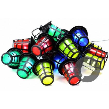 Zahradní osvětlení na párty- řetěz z barevných lucerniček, 5 m