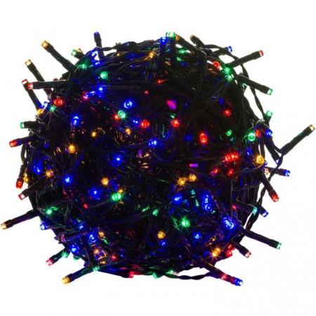 Vánoční LED řetěz voděodolný, exteriér / interiér, 50 LED diod, 5 m, barevný