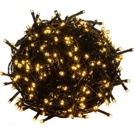Vánoční LED řetěz voděodolný, exteriér / interiér, 50 LED diod, 5 m, teple bílý