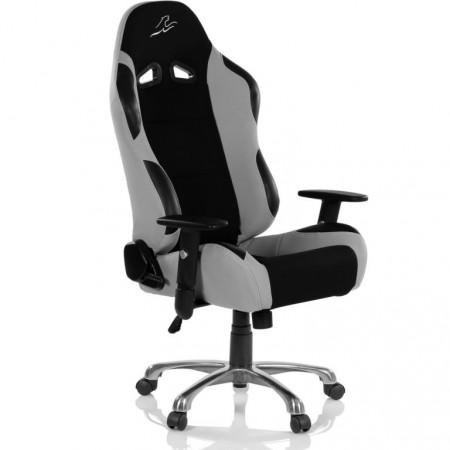 Měkká otočná kancelářská židle, vzhled sportovní sedačky aut, černá / šedá