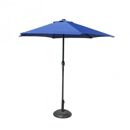 Zahradní slunečník kulatý, s klikou, 2,3 m, světle modrý