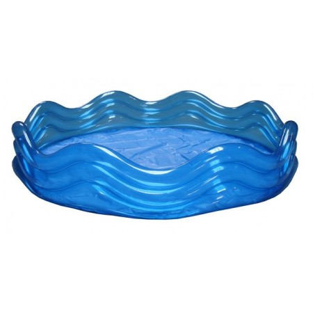 Dětský nafukovací bazének, 3 komory, modrý, 183 x 33 cm