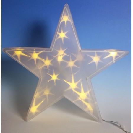 Vánoční svítící hvězda do interiéru, k postavení, zavěšení, 45 cm