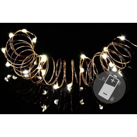 Kratší světelný LED řetěz na baterie, vnitřní, 1 m