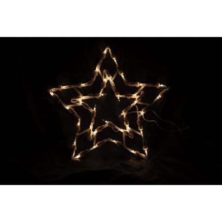 Svítící hvězda do okna, dveře, na stěnu, LED diody, 30 cm