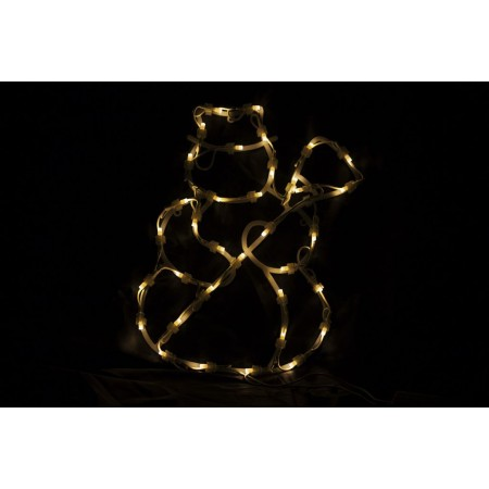 Vánoční figurka k zavěšení do okna- svítící sněhulák, 40 cm