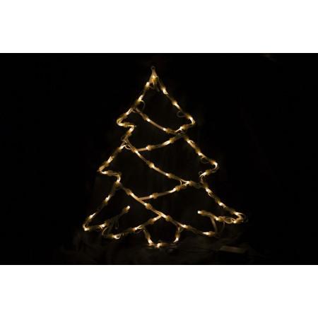 Svítící vánoční stromek k zavěšení do okna, 40 cm