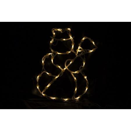 Vánoční svítící sněhulák do okna, 35 LED diod, 30 cm