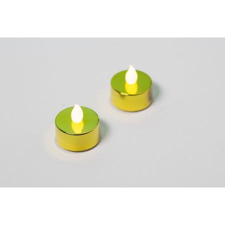 2 ks elektrická čajová svíčka, dekorace do bytu, zlatá