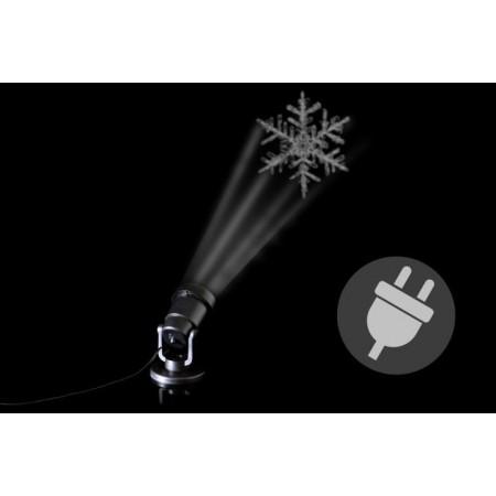 LED projektor s vánočním motivem- sněhová vločka, venkovní / vnitřní