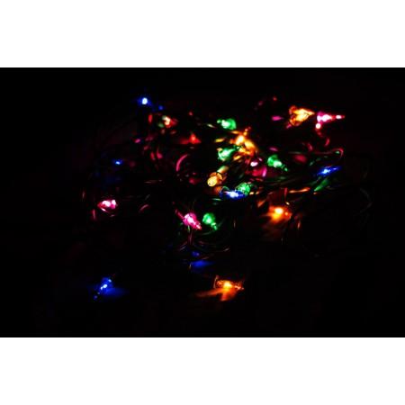 Vánoční řetěz s minižárovkami vnitřní, barevný, 2,85 m