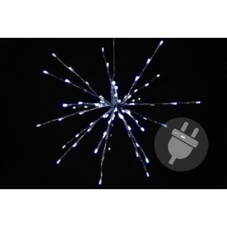 Vánoční svítící hvězda k zavěšení venkovní / vnitřní, 30 cm