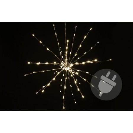 Vánoční svítící hvězda venkovní / vnitřní, teple bílá, 30 cm