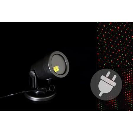 Vánoční venkovní projektor- světelné tečky zelená / červená