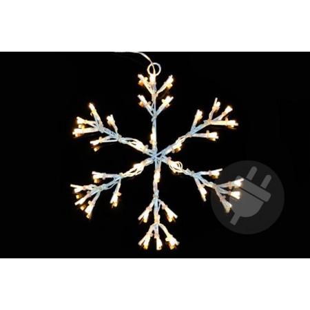 Velká svítící sněhová vločka venkovní / vnitřní, do zásuvky, 30 cm
