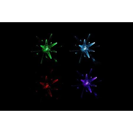 Vánoční výzdoba na baterie- svítící hvězda, změna barvy