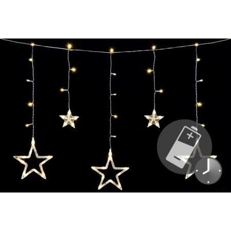 Vánoční řetěz z hvězd, na baterie, dálkové ovládání, 0,6 m
