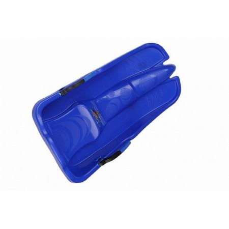 Dětské plastové boby formule s brzdami, modré