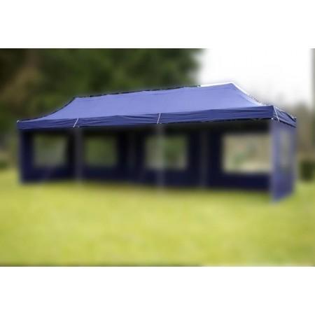 Samostatná střecha s zahradním párty stanům 3x9 m, modrá