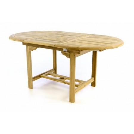 Venkovní stůl z masivního teakového dřeva, rozkládací, 120 - 170 cm