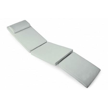 Voděodolný polstr na židle / lehátka, odpojitelná podní část, šedý