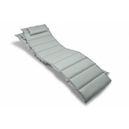 2 ks podložka na lehátka s polštářkem, pratelná, šedá