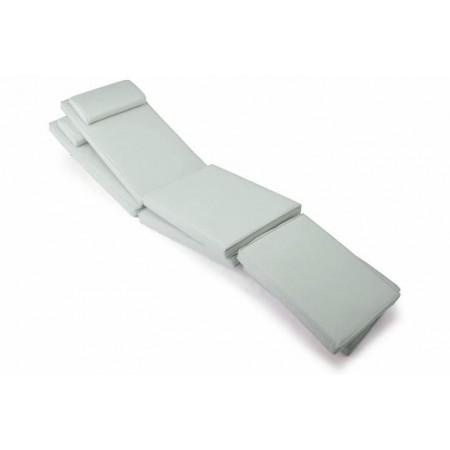 2 ks voděodolný polstr na židle / lehátka, odpojitelná podní část, šedý
