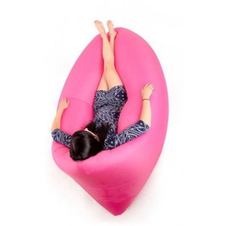 Nafukovací odpočinkový pytel- bag, dvouvrstvý, růžový