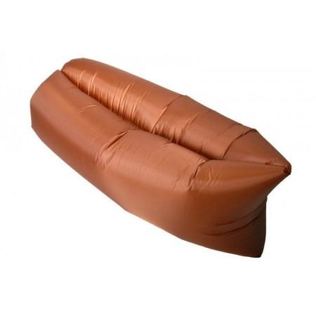 Nafukovací odpočinkový pytel- bag, dvouvrstvý, hnědý