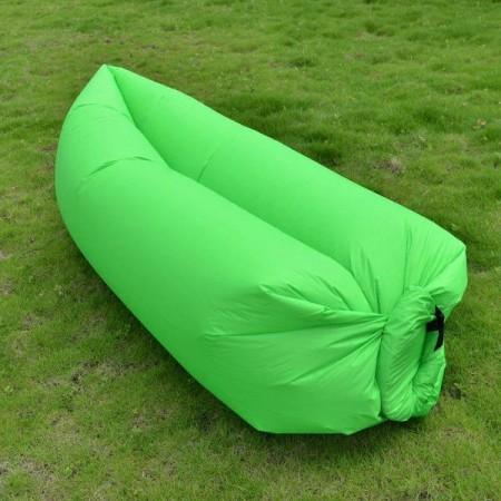 Nafukovací odpočinkový pytel- bag, dvouvrstvý, zelený
