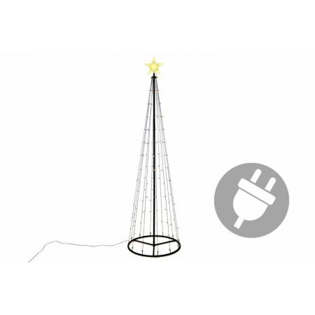 Velká vánoční světelná dekorace- světelný kužel venkovní / vnitřní, 240 cm