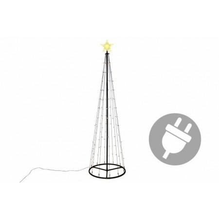 Velká venkovní vánoční světelná pyramida, 240 cm