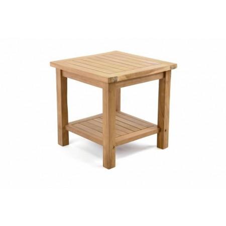 Malý masivní dřevěný stolek, teakové dřevo, 50x50 cm
